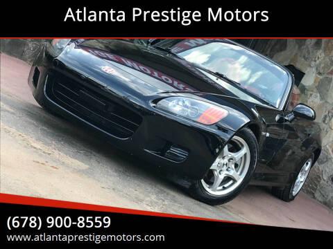 2002 Honda S2000 for sale at Atlanta Prestige Motors in Decatur GA