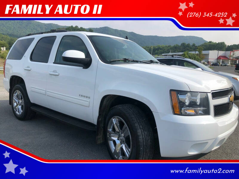 2013 Chevrolet Tahoe for sale at FAMILY AUTO II in Pounding Mill VA