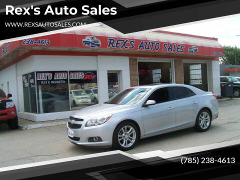 2013 Chevrolet Malibu for sale at Rex's Auto Sales in Junction City KS