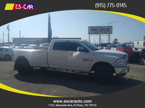 2018 RAM Ram Pickup 3500 for sale at Escar Auto in El Paso TX
