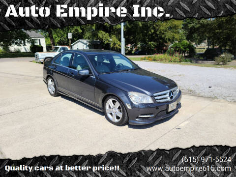2011 Mercedes-Benz C-Class for sale at Auto Empire Inc. in Murfreesboro TN