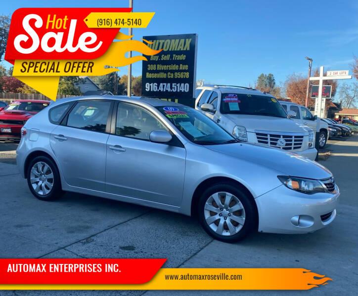2009 Subaru Impreza for sale at AUTOMAX ENTERPRISES INC. in Roseville CA