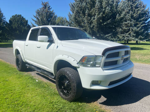2011 RAM Ram Pickup 1500 for sale at BELOW BOOK AUTO SALES in Idaho Falls ID