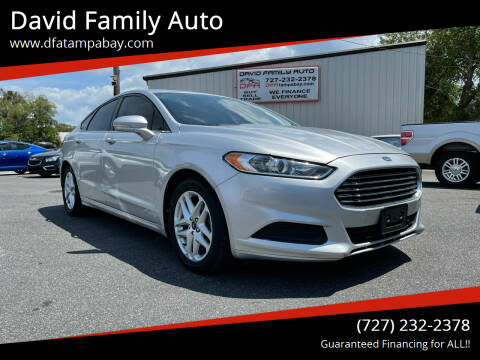 2015 Ford Fusion for sale at David Family Auto in New Port Richey FL