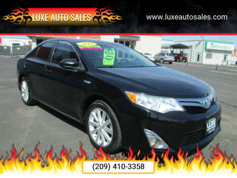 2013 Toyota Camry Hybrid for sale at Luxe Auto Sales in Modesto CA