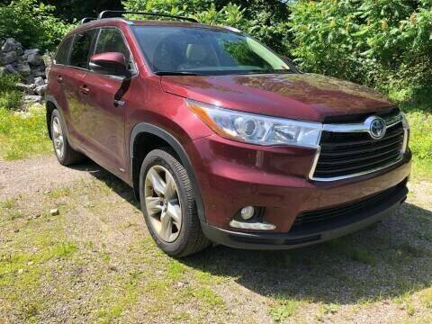 2016 Toyota Highlander Hybrid for sale at RS Motors in Falconer NY
