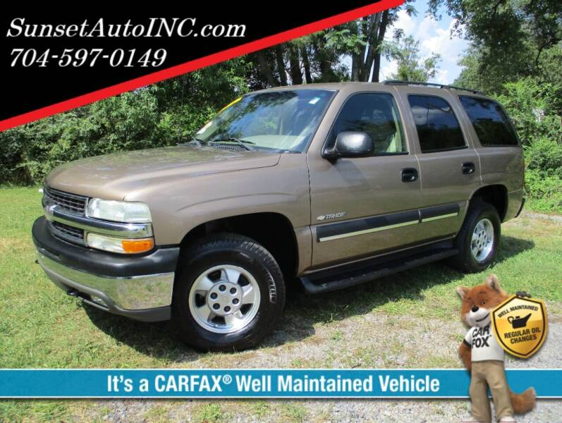 2003 Chevrolet Tahoe for sale at Sunset Auto in Charlotte NC