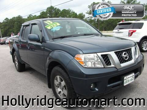 2013 Nissan Frontier for sale at Holly Ridge Auto Mart in Holly Ridge NC