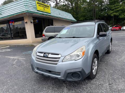 2013 Subaru Outback for sale at Diana Rico LLC in Dalton GA