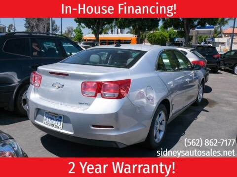 2013 Chevrolet Malibu for sale at Sidney Auto Sales in Downey CA