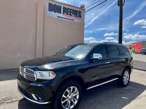 2018 Dodge Durango for sale at Don Reeves Auto Center in Farmington NM