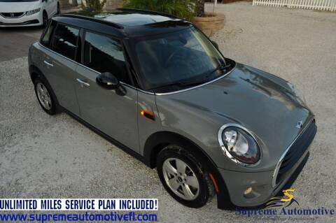 2018 MINI Hardtop 4 Door for sale at Supreme Automotive in Land O Lakes FL