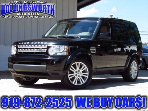 2011 Land Rover LR4 for sale at Hollingsworth Auto Sales in Raleigh NC