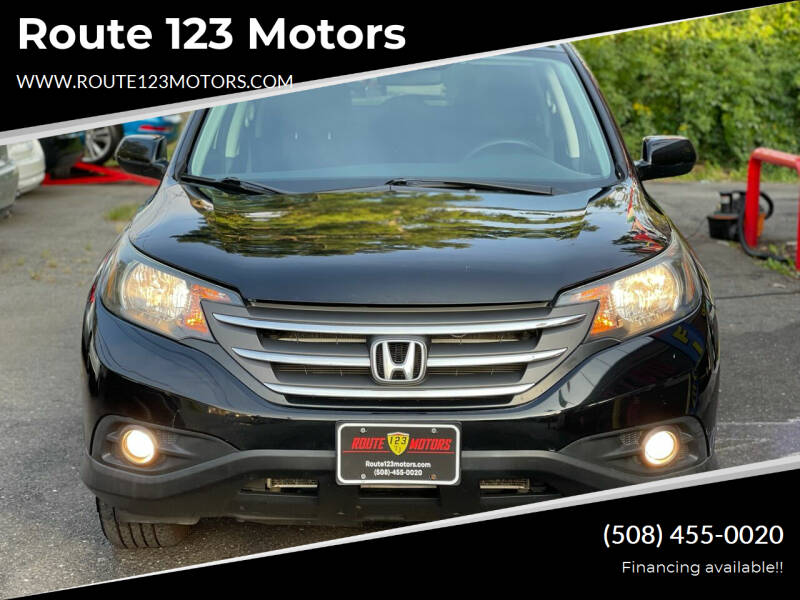 2014 Honda CR-V for sale at Route 123 Motors in Norton MA