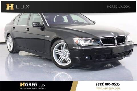 2007 BMW 7 Series for sale at HGREG LUX EXCLUSIVE MOTORCARS in Pompano Beach FL