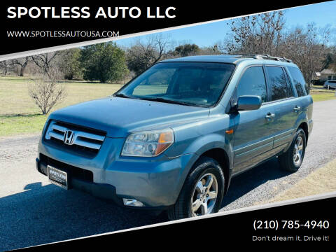 2007 Honda Pilot for sale at SPOTLESS AUTO LLC in San Antonio TX