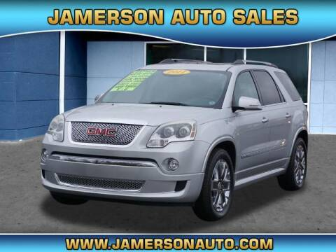 2011 GMC Acadia for sale at Jamerson Auto Sales in Anderson IN