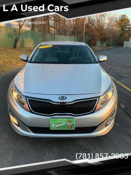 2014 Kia Optima for sale at L A Used Cars in Abington MA