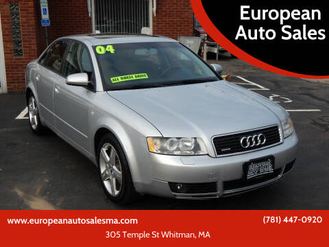 2004 Audi A4 for sale at European Auto Sales in Whitman MA