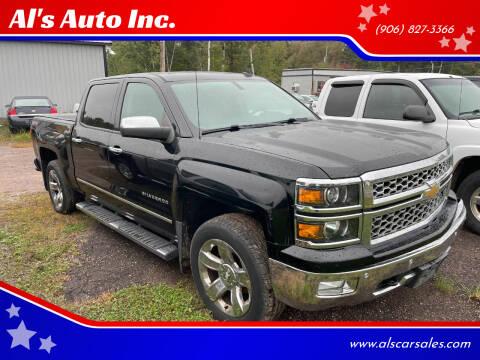2014 Chevrolet Silverado 1500 for sale at Al's Auto Inc. in Bruce Crossing MI