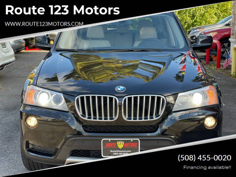 2014 BMW X3 for sale at Route 123 Motors in Norton MA