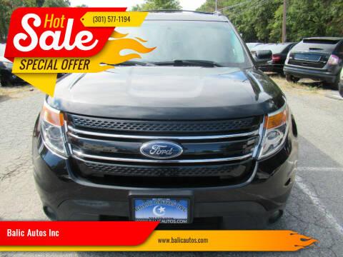 2013 Ford Explorer for sale at Balic Autos Inc in Lanham MD