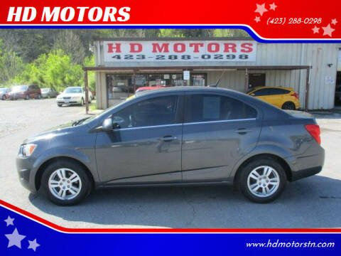 2013 Chevrolet Sonic for sale at HD MOTORS in Kingsport TN