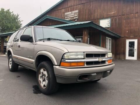 2004 Chevrolet Blazer for sale at Coeur Auto Sales in Hayden ID