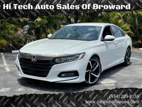 2018 Honda Accord for sale at Hi Tech Auto Sales Of Broward in Hollywood FL