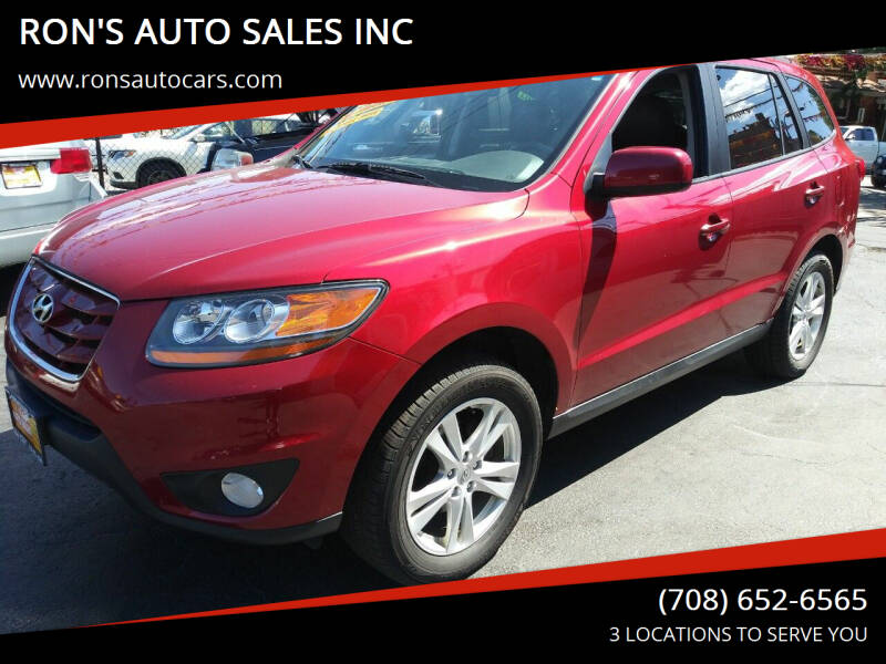 2010 Hyundai Santa Fe for sale at RON'S AUTO SALES INC in Cicero IL