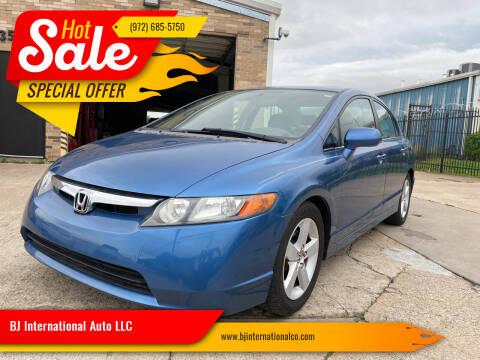 2007 Honda Civic for sale at BJ International Auto LLC in Dallas TX