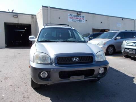 2003 Hyundai Santa Fe for sale at ACH AutoHaus in Dallas TX