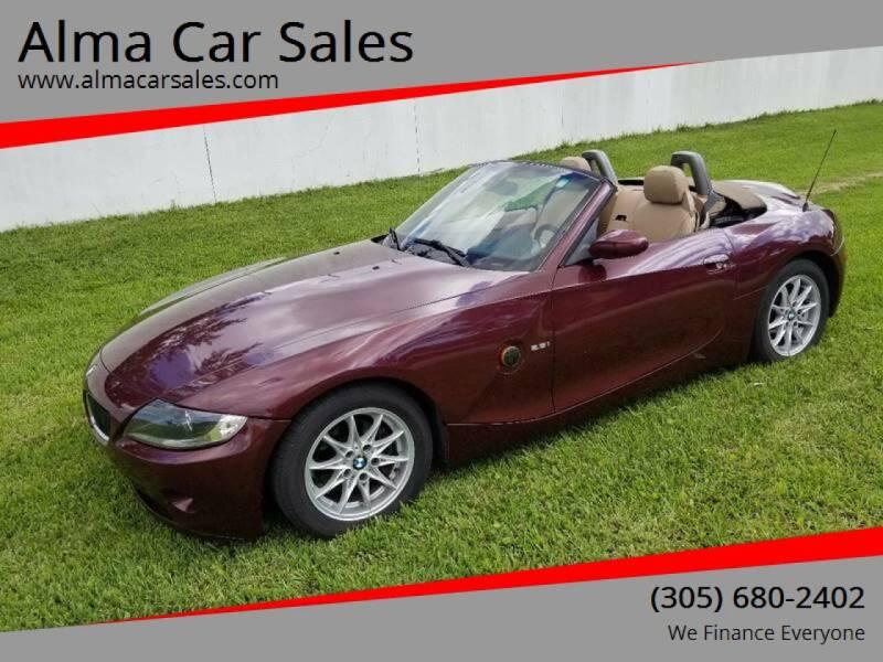 2004 BMW Z4 for sale at Alma Car Sales in Miami FL