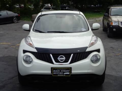 2012 Nissan JUKE for sale at MAIN STREET MOTORS in Norristown PA