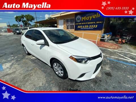 2014 Toyota Corolla for sale at Auto Mayella in Miami FL