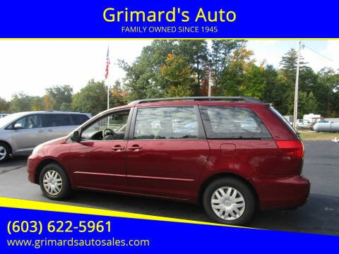 2004 Toyota Sienna for sale at Grimard's Auto in Hooksett, NH
