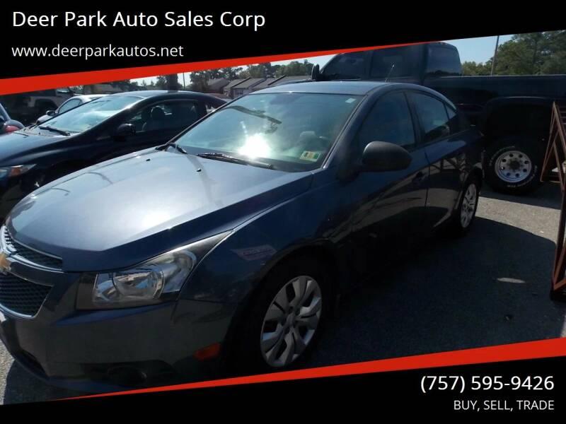 2013 Chevrolet Cruze for sale at Deer Park Auto Sales Corp in Newport News VA