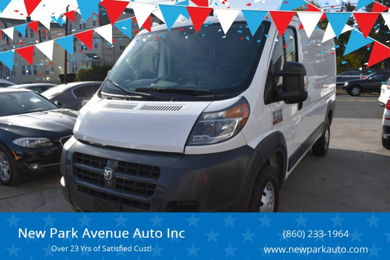 2017 RAM ProMaster Cargo for sale at New Park Avenue Auto Inc in Hartford CT