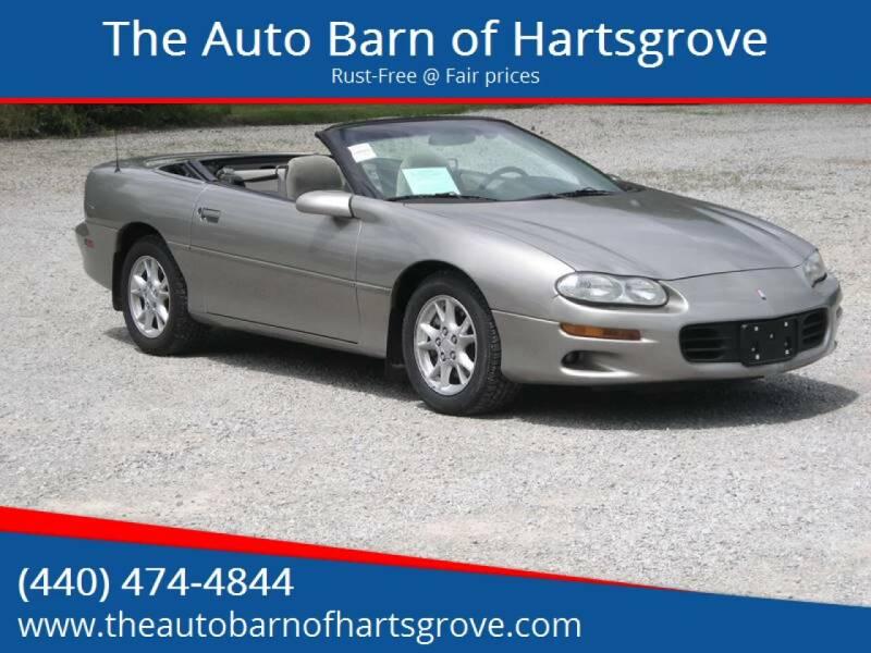 2002 Chevrolet Camaro for sale at The Auto Barn of Hartsgrove in Hartsgrove OH
