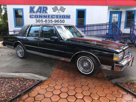 1987 Chevrolet Caprice for sale at Kar Connection in Miami FL