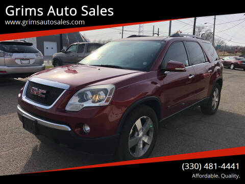 2010 GMC Acadia for sale at Grims Auto Sales in North Lawrence OH
