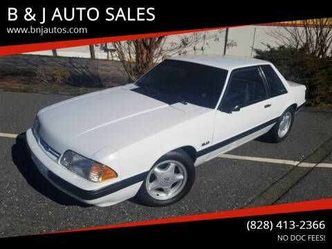 1991 Ford Mustang for sale at B & J AUTO SALES in Morganton NC