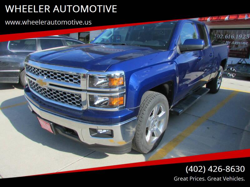 2014 Chevrolet Silverado 1500 for sale at WHEELER AUTOMOTIVE in Blair NE