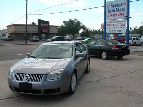 2007 Mercury Milan for sale at Springs Auto Sales in Colorado Springs CO