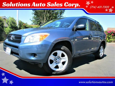2007 Toyota RAV4 for sale at Solutions Auto Sales Corp. in Orange CA