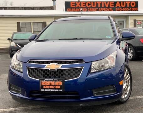 2012 Chevrolet Cruze for sale at Executive Auto in Winchester VA