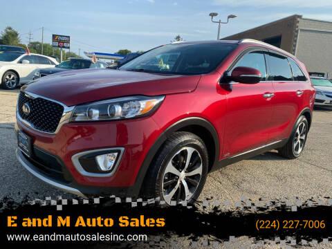 2016 Kia Sorento for sale at E and M Auto Sales in Elgin IL