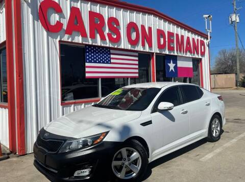 2014 Kia Optima for sale at Cars On Demand 2 in Pasadena TX