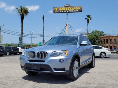 2013 BMW X3 for sale at A MOTORS SALES AND FINANCE - 10110 West Loop 1604 N in San Antonio TX