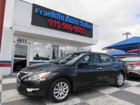 2015 Nissan Altima for sale at Franklin Auto Sales in El Paso TX